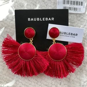 Red BaubleBar Statement Earrings
